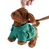 Jeffergarden Divertidos Juguetes de Peluche electrónicos Canto Musical Caminar Juguete eléctrico Perro Mascota niños niño Regalo Verde niños interactivos