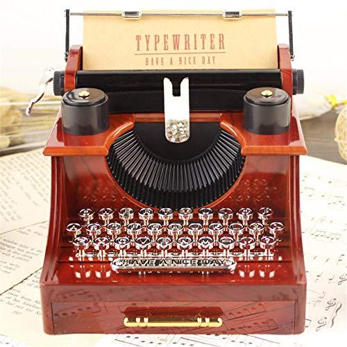 Caja Musical Vintage Caja De Almacenamiento De Joyería De Caja De Música Mecánica De Estilo De Máquina De Escribir Vintage Artesanía De Decoración del Hogar