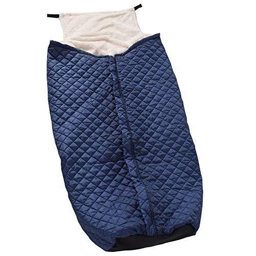 Yxp Plüsch Rollstuhlsack Rollstuhl Fußsack Warm Schlupfsack Für Ältere Menschen, Patienten, Behinderte Erwachsene,Blau