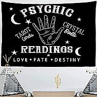 タペストリー壁掛けタペストリー占星術神秘的な占いオカルトホームウォールブラッククールな装飾150x130cm