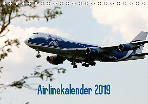 Airlinekalender 2019 (Tischkalender 2019 DIN A5 quer): Airlines und ihre Flugzeuge in Bildern. (Monatskalender, 14 Seiten )