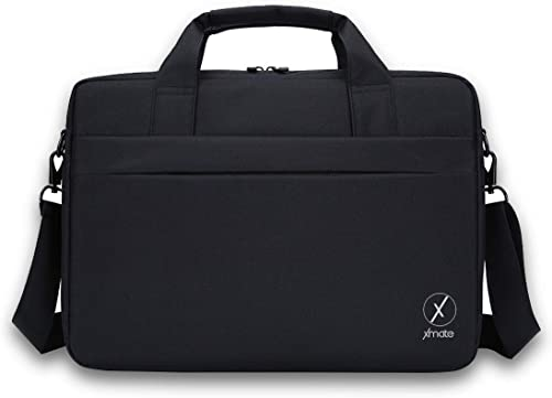 Xmate Laptop and Tablet Case 15 6 inch Laptop Bag Water Resistant Office Bag Large Compartments Travel Bag Oxford Fabric and Polyester Coating Shoulder Bag for Men and Women Black