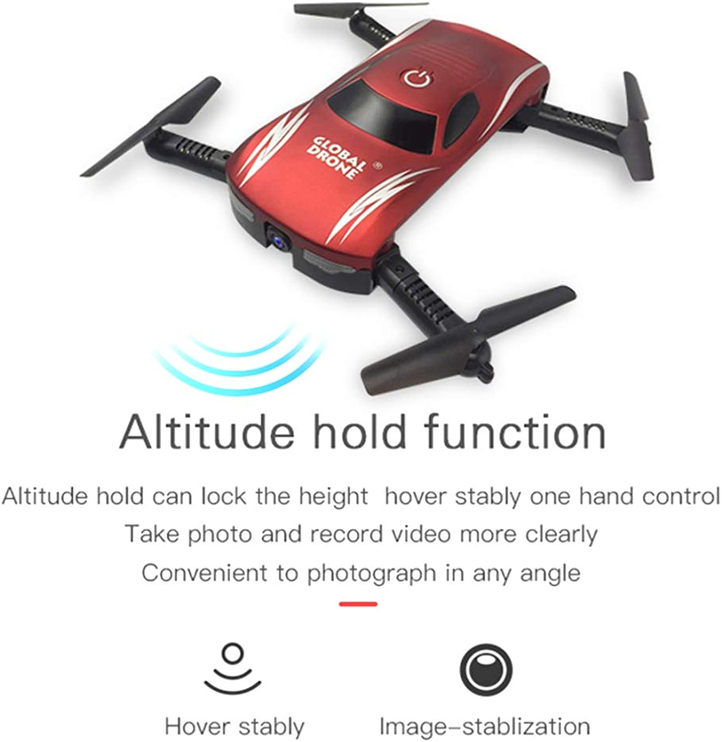 HUIGE FPV Drone with WiFi Camera Live Video 2.4GHz 4 Axis Gyro RTF RC Quadcopter