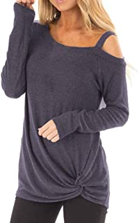 Long Sleeves Tops For Women 2019, Liraly Ladies Casual Soft O Neck Knot Side Twist Blouse T-Shirt