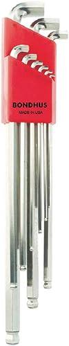 lowest Bondhus 16799 9 PC Stubby Ball discount End Tip Hex Key L-Wrench 2021 Set BriteGuard,Long Arm sale