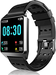 Fitness Tracker Smart Watch, Activity Tracker with Heart Rate Monitor IP67 Waterproof bluetooth Watch Message Notification Pedometer Bracelet tracking Sports and Sleep for IOS Android Phones Women Men