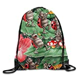 htrewtregregre Cricket Insect Symphony Art Unisex Drawstring Rucksack