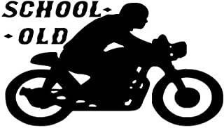 vbgdf Wall Sticker Old School Motorcycle Wall Stickers Sports Motorcycle Art Wall Decoration Home Decoration Children Room Removable Wallpaper 59 33 cm