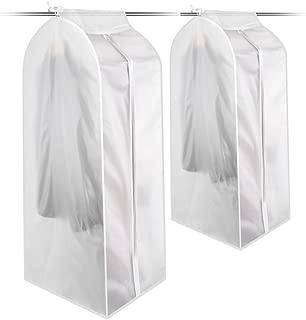 KONKY Garment Clothes Cover Protector, Hanging Garment Bag, Transparent, Size 11