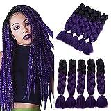 YXCHERISHAIR Purple Braiding Hair for Black Women and Girls Crochet...