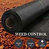 AGTEK Garden Weed Barrier Landscape Fabric 3.8oz 4x10 FT Heavy-Duty Ground Cover Eco-Friendly Weed...