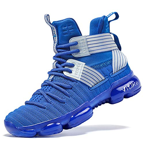 Zapatillas Unisex Niños Zapatos de Baloncesto Casual Zapatos Correr Sneakers para Adolescente Unisex, 29 EU, Azul