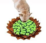 YAODHAOD Snuffle Mat para perros, alfombrilla de alimentación interactiva para perros,cuenco de Snufle, lavable a máquina, dispensador de golosinas para interiores y exteriores (verde)