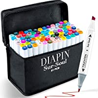 Diapin 80+1 Colors Alcohol Art Markers