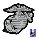 US Marine Corps Eagle Globe & Anchor PVC Patch US Marine Corps Eagle Globe & Anchor Badge Sew On Patches Hook-Back Adhesion