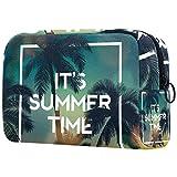 Bolsa de aseo de viaje de nailon, kit Dopp bolsa de afeitado organizador de artículos de tocador, tiempo de verano palmeras