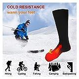 Elektrische beheizte Socken, 1 Paar Batterie warme Socken kaltes Wetter Thermische Socken Sport Outdoor Camping Wandern warme Winter Socken für Männer Frauen - 8