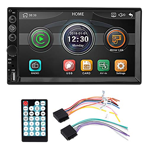 Qiilu 7in Touch Screen HD 2 Din Car FM Radio o MP5-7062 Video Music Player Supporto Bluetooth