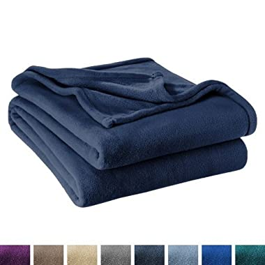 Ivy Union Ultra Soft Microplush Velvet Blanket - Luxurious Fuzzy Fleece Fur - All Season Premium Bed Blanket (Full/Queen, Dark Blue)