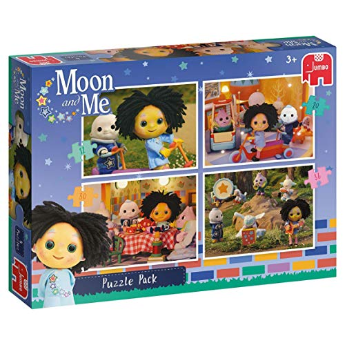 Jumbo 19742 - Moon & Me - 4 in 1 puzzel pack, motief: Moon and Me puzzel, meerkleurig