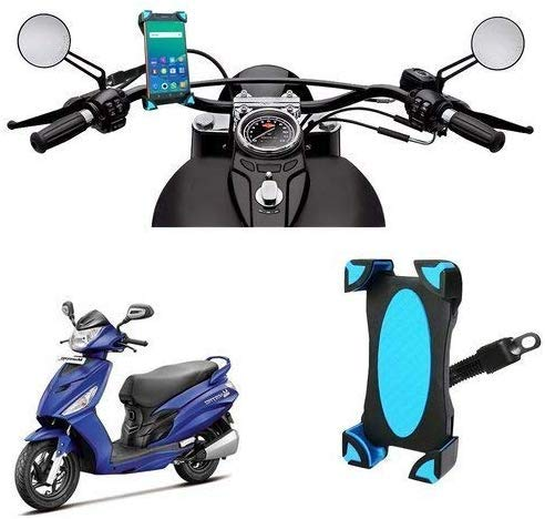 RKM Universal 360 Degree Mount Rotating Motorcycle Mobile Phones Cradle Mount Holder All Android Devices Upto 7 Inches