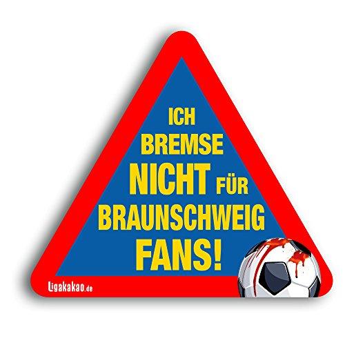 Kfz-Aufkleber Ich Bremse Nicht für Braunschweig-Fans | Für mehr Spaß im Verkehr für alle Hannover 96-, Wolfsburg-, St.Pauli- & Fußball-Fans | Vereinsaufkleber - PKW Auto Kfz Aufkleber