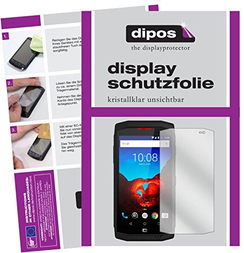 dipos I 6X Schutzfolie klar kompatibel mit Crosscall Trekker-X3 Folie Bildschirmschutzfolie