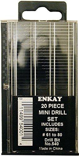 Enkay 540 - Juego de brocas mini (20 unidades, tamaños 61-80)