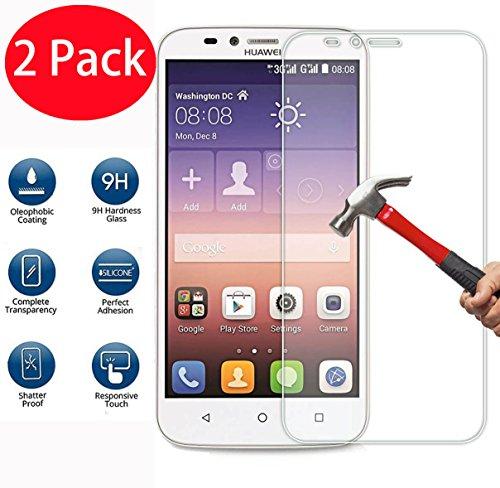 FoneExpert® 2 Pack - Huawei Y625 Panzerglas, Gehärtetem Schutzfolie Glasfolie Hartglas Panzerfolie Displayschutzfolie für Huawei Y625