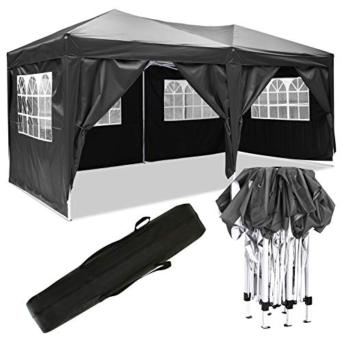 Bunao [UK STOCK] 3x6mtr Pop Up Garden Canopy Waterproof Gazebo Camping Tent Shelter Outdoors (Type1)