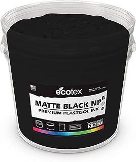 Ecotex Matte Black Plastisol Ink for Screen Printing - Non Phthalate Formula - All Sizes (Quart)