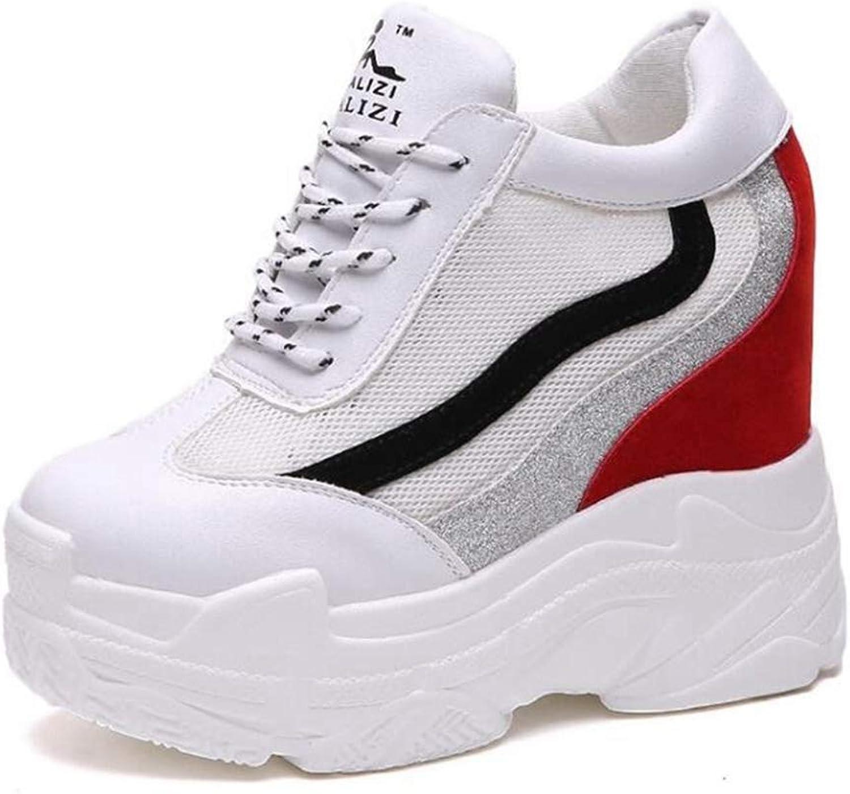 U-MAC Womens Wedge Sneakers Casual Platform shoes Fashion High Heels shoes