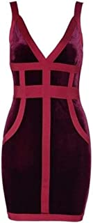 Bodycon Club Dresse Wine Red