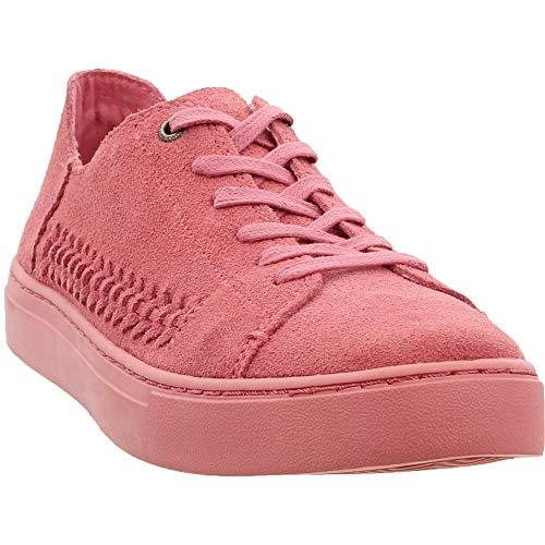 TOMS Women's Lenox Sneaker Faded Rose Monochrome Deconstructed Suede/Woven Panel 9.5 B...