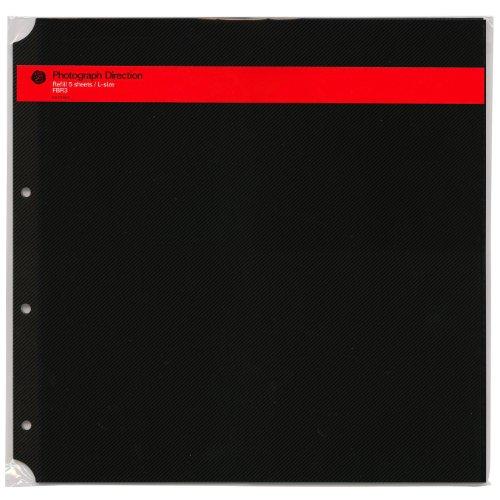 DELFONICS PDフォトアルバム リフィル粘着 L ブラック 500178105 1袋 5枚