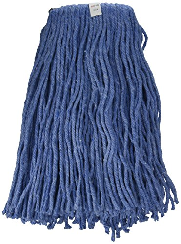 Winco Yarn Mop Head, 24-Ounce, 4 Ply Cut Head, Blue