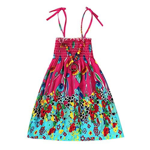 Moneycom Sommer-Outfit, Jumpsuit, Rock zum Geburtstag, Tüll, schick, für Hochzeit, für Kinder, Mädchen, Babykleid, Blumenkleid, Strandkleid Gr. 2-3  Jahre , Hot Pink