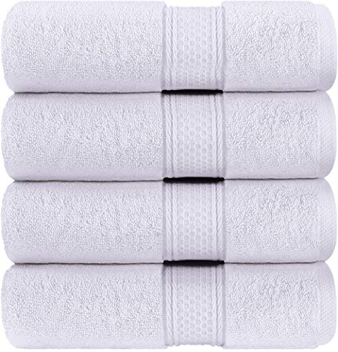 Utopia Towels - Bath Towels Set, White - Luxurious 700 GSM 100% Ring Spun Cotton - Quick Dry, Highly Absorbent,...