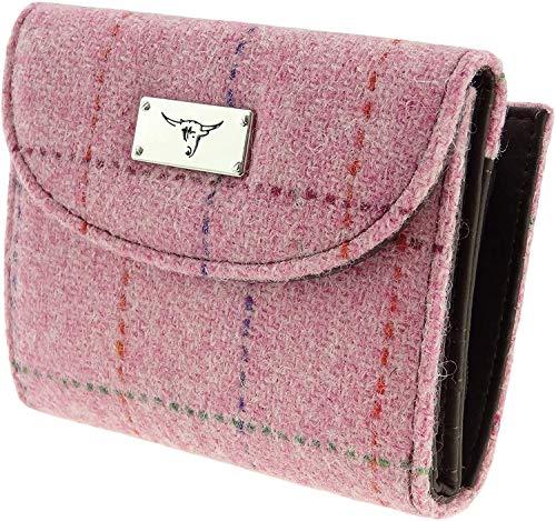 Damen Authentisch Harris Tweed Kurz Portemonnaie Reißverschluss Geldbörse LB2002 - Farbe 68, 9.5cm...