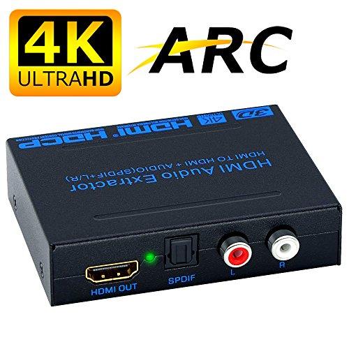 ELEVIEW 4K×2K ARC対応 HDMI 分離 音声 HDMI入力・光デジタル/アナログステレオ出力 hdmi 音声分離器 hdmi分配器 hdmiデジタルオーディオ分離器 hdmiサウンド分離器 PS3・PS4・Blu-ray・HD DVD・TV