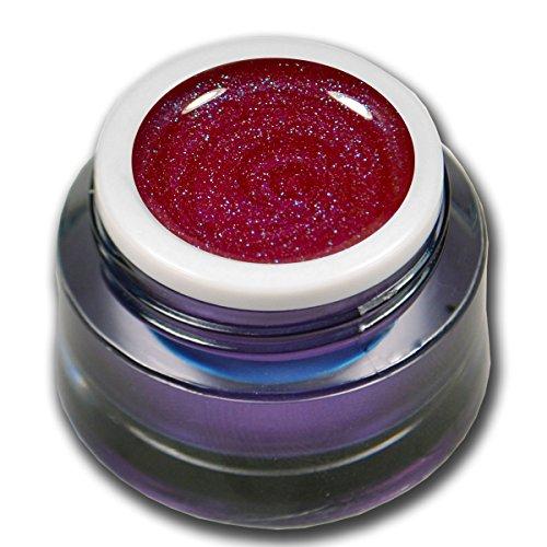 RM Beautynails Premium UV Glit tergel Summer Night Red Rouge 5 ml gel uv Gels professionnel pigments pas absenken la très grande opacité