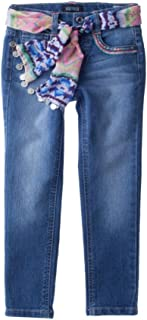 Dark Stone Squeeze Toddler Girls Chevron Print Knit Jeggings