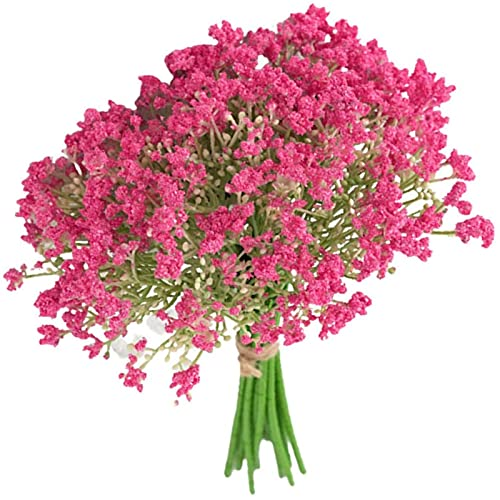 YYHMKB Gypsophila Artificial Flowers, Baby Breath Realistic Gypsophila Bouquets, Real Touch Flowers for Mothers Day, Home Decor, Wedding Bridal Bouquet Pink