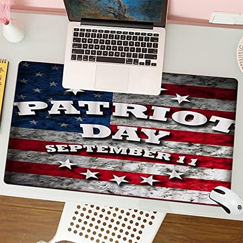 Gaming Keyboard Mouse Pad da Gioco Bandiera americana USA Patriot Day patriottico 11 settembre 911 adatta per computer desktop notebook