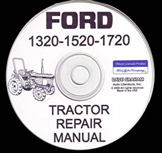 COMPLETE FORD TRACTOR 1320, 1520, 1720 FACTORY REPAIR SHOP & SERVICE MANUAL On CD. 1987 1988 1989 1990 1991 1992 1993 1994 1995 1996 1997 1998 1999 2000