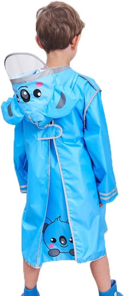 FEI JI Rain Jacket - 3D Cartoon Pattern Children's Raincoat with Large School Bag Design Designed for Boys and Girls Poncho Suitable for Children with A Height of 90-160cm (Color : #03, Size : XXL)