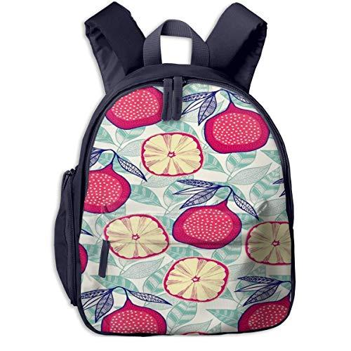 Mochila Escolar AOOEDM para niñas, niños, Mochilas de Dibujos Animados de higos de Frutas Lindas para niños