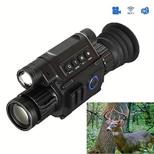QLPP IR-Nachtsichtgerät, 6.5-12X Vergrößerungs HD Nachtsicht 5w 850nm IR-Kamera monokulare Digital Vision Scopes für Outdoor-Jagd