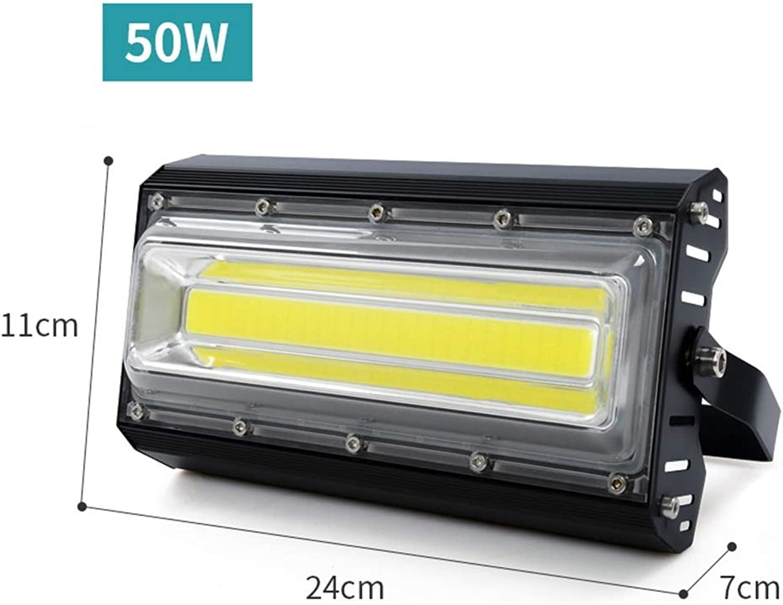 YROD LIGHT LED Flutlicht, 220V 110V Sicherheit Wasserdicht Auenlampe für Garten Strae (Farbe   Weies Licht-50W)