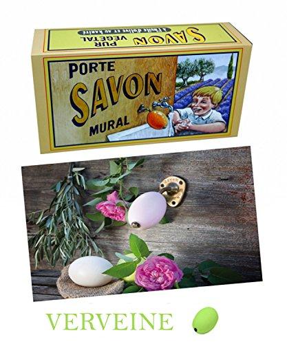 La Savonnerie de Nyons Rotatif Laiton Porte Savon Verveine 260 grammes, Multi/Couleur, Taille Unique